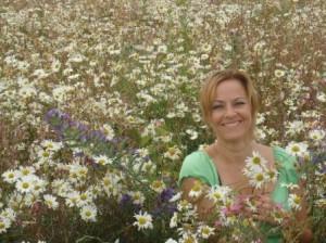 Cheryl in flowers