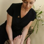 Foot swiss reflex aromatherapy massage